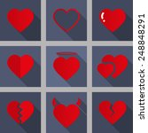 vector heart love icon symbol... | Shutterstock .eps vector #248848291