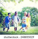 children playing football at... | Shutterstock . vector #248855029