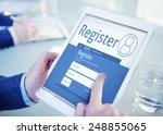 register membership application ... | Shutterstock . vector #248855065