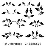 vector set. black stylized... | Shutterstock .eps vector #248856619