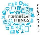 internet of things vector... | Shutterstock .eps vector #248858971