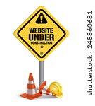 website under construction sign ... | Shutterstock .eps vector #248860681