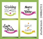set of wedding cards and... | Shutterstock .eps vector #248862511