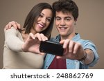 young cheerful couple taking... | Shutterstock . vector #248862769