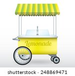 lemonade stand cart vector... | Shutterstock .eps vector #248869471