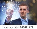business man pressing... | Shutterstock . vector #248871427