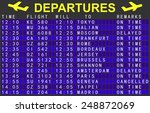 departures board with flights... | Shutterstock .eps vector #248872069