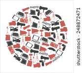 photographic and camera icons... | Shutterstock .eps vector #248872471