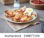 chicken breast with a cheese... | Shutterstock . vector #248877154