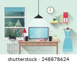 vector illustration of modern... | Shutterstock .eps vector #248878624