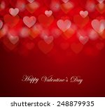 happy valentine's day card with ... | Shutterstock .eps vector #248879935