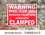red warning sign in a car park | Shutterstock . vector #248881615