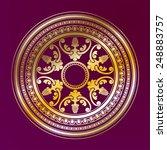 round decorative golden... | Shutterstock .eps vector #248883757