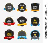 sticker set   vector | Shutterstock .eps vector #248883874