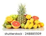assortment of exotic fruits... | Shutterstock . vector #248885509