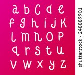 cute vector doodle alphabet | Shutterstock .eps vector #248889901