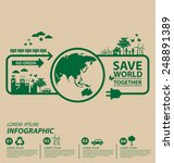ecology concept. save world... | Shutterstock .eps vector #248891389