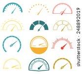Speedometer Or Gauge Icons Set...