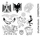 coat of arms elements set ... | Shutterstock .eps vector #248896594