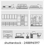 icons of different domestic... | Shutterstock .eps vector #248896597