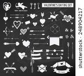 valentine's day set   on chalk... | Shutterstock .eps vector #248904217