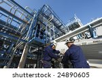 engineers working inside oil... | Shutterstock . vector #24890605