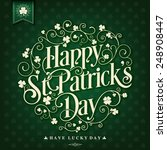saint patrick's day typographic ... | Shutterstock .eps vector #248908447