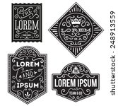 vintage hipster labels and... | Shutterstock .eps vector #248913559