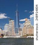 the new york city skyline at... | Shutterstock . vector #248914804