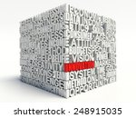 word innovation in red  salient ... | Shutterstock . vector #248915035