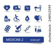 medical icon set   vector | Shutterstock .eps vector #248915599