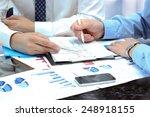 business colleagues working... | Shutterstock . vector #248918155
