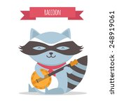 raccoon | Shutterstock .eps vector #248919061