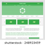 green responsive website...