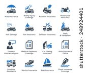 auto insurance icons   blue... | Shutterstock .eps vector #248924401
