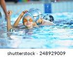 happy children kids group at... | Shutterstock . vector #248929009