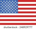american flag vector... | Shutterstock .eps vector #248929777