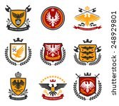 Heraldic Emblems And Shield Se...