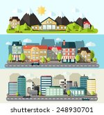industrial downtown and urban... | Shutterstock .eps vector #248930701