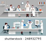 Scientists In Lab Concept With...