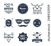 hipster old retro style... | Shutterstock .eps vector #248933509