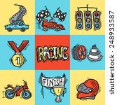 racing design concept set with... | Shutterstock .eps vector #248933587