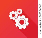 settings icon. gears with red... | Shutterstock .eps vector #248936065