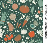 awesome tasty seamless pattern... | Shutterstock .eps vector #248938615