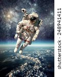 astronaut in outer space... | Shutterstock . vector #248941411