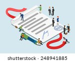 flat 3d web isometric signed... | Shutterstock .eps vector #248941885