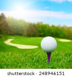 golf ball on course with... | Shutterstock . vector #248946151