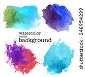 modern painting   set of... | Shutterstock .eps vector #248954299