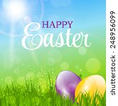 happy easter background vector... | Shutterstock .eps vector #248956099