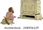 prehistoric man watching... | Shutterstock .eps vector #248956129